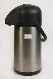 Pump-Thermoskanne Getränkespender Isolierkanne Edelstahl 2