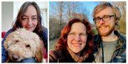 Liebe Menschen im Weingarten Baden