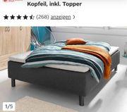 Verkaufd Bett von 450 aif