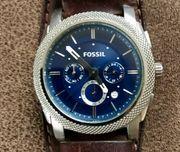 Fossil Armbanduhr Chronograph Edelstahl