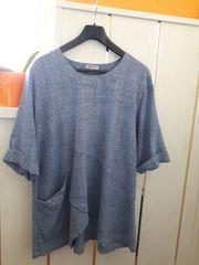 DW-Shop Baumwoll-Bluse 44 46 melange