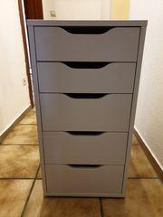 ALEX Schubladenschrank weiß 36x70cm - Wie