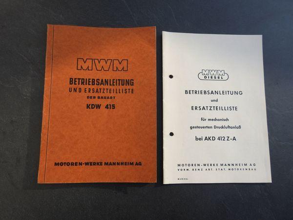 MWM DITER Betriebsanleitungen Service Handbücher