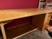 Schreibtisch Kiefer Regal