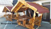 Biergartenhütten und Sitzgarnituren der besonderen