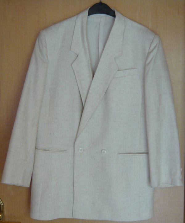 a3d73c0369 Festlich elegant Damen Blazer weiß-cremefarben Gr 40 Langarm ...