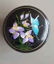 Romantische Holzdose Schmetterling handbemalt