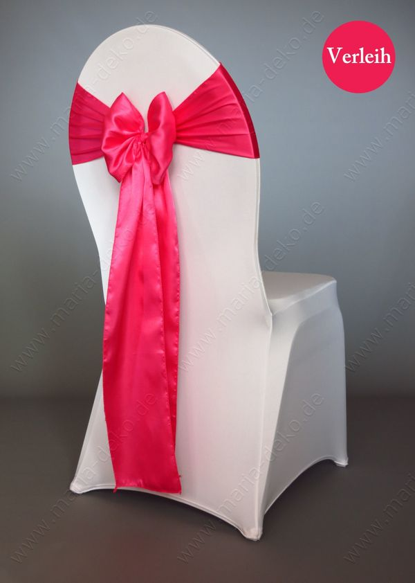 Satin Stuhlschleifen verleih Bänder pink