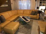 Couchgarnitur Eck Sofa echt Leder