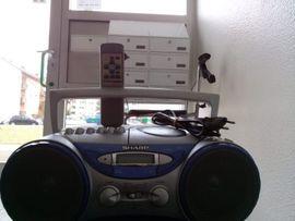 Stereoanlagen, Türme - Sharp QT-CD-250-H tragbarer CD-Radiorekorder Silber