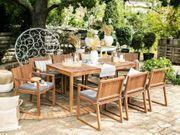 Gartenmöbel Set Akazienholz hellbraun 8-Sitzer