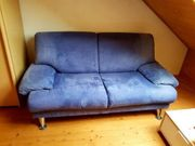 2er Sofa blau 170 breit