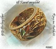 Silberschmuck Ring silberring vergoldet
