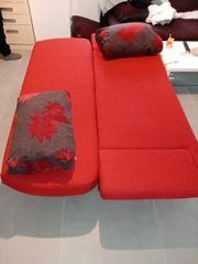 aufziehbare Schlaf sofa in rot