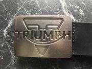 TRIUMPH MOTORRAD Ledergürtel 90 cm