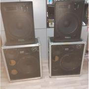 4x15 Zoll Aktiv System PA-DJ-Bühne-Party-Home-Disco