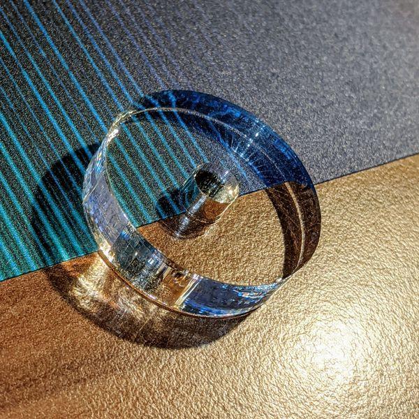 Acrylglas Single-Puck Vinyl Glasklar Schallplatte