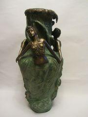 Alte große Bronze Vase Jugendstil