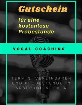 Auftrittsgesuche, Coaching - Gesangsunterricht Vocal Coach