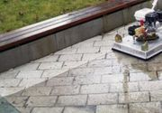 Pflasterreinigung Beton Stein Pflasterflächen Granit