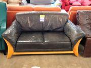 Sofa 159x85 braun aus Leder -