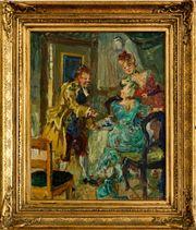 MeisterGemälde LUDVIG JACOBSEN 1890 Szene