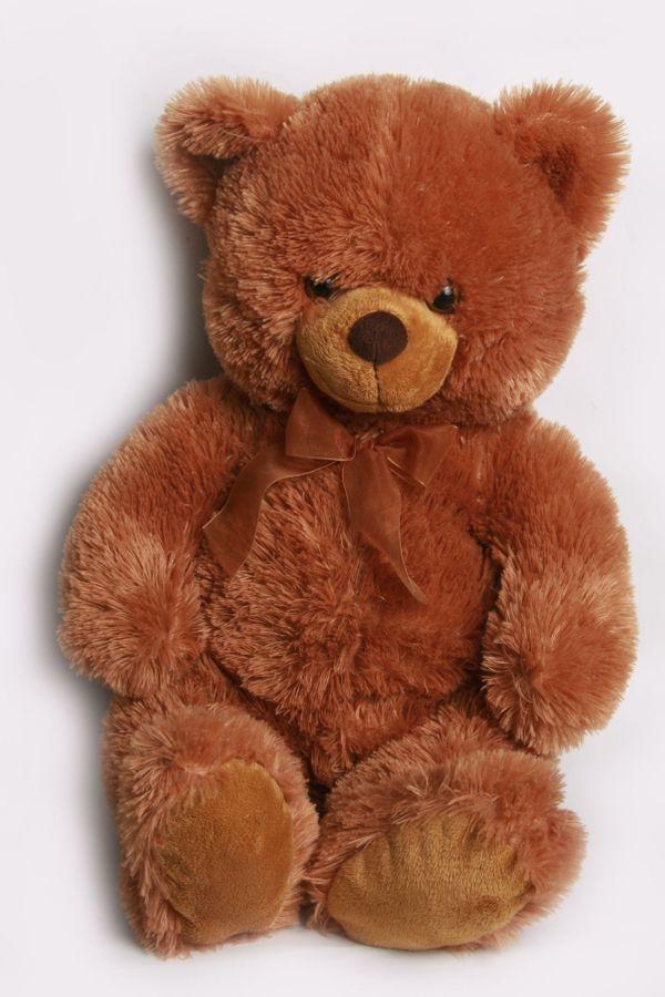 Großer weicher brauner kuscheliger Teddybär