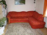Landhausstil Sofa in L-Form rot