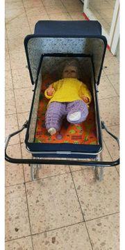 schöner DDR Puppenwagen Kinderpuppenwagen
