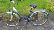 Fahrrad mit Tiefen einstig für
