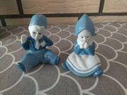 Zwei kleine Porzellanfiguren holländische Mädchen