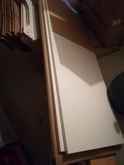 Umbauschrank für Kühl-Gefrierschrank weiß groß