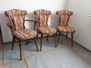 3 Stühle - Massivholz Eiche rustikal