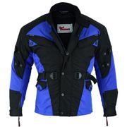 Textil Motorradjacke Schwarz Blau