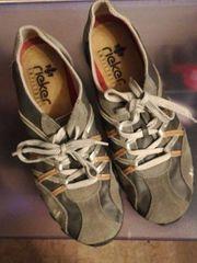 Rieker, Slipper, Gr. 38, farbe graublau in Landau Schuhe IR3wp