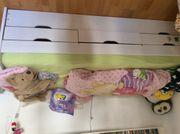 Kinderbett mit zusätzlichem Ausziehbett und
