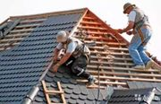 Dachdecker Arbeite Dachrinner Fassade alle