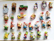 Überraschungseier-Figuren und -Puzzle