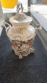 Glas Silber Vase Topf - LD300419