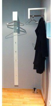 Garderobenpaneel Garderobe hochglanz weiss mit