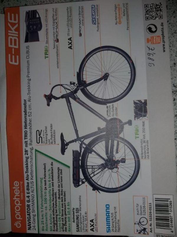 E-Bike Prophete Navigator 6 4