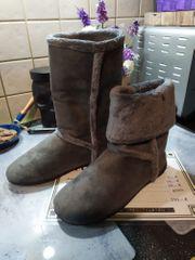 Stiefel markenlos grau 40 gebraucht