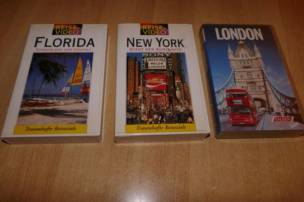 VHS Reisevideos London New York