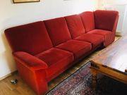 Schönes rotes Sofa Bezug aus