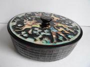 Karlsruher Majolika Dose Deckeldose Keramik