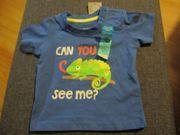 neu t-shirt gr 62 blau