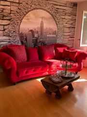 Rote Moderne Couch sofa