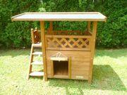 Katzenhaus aus Holz