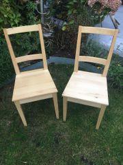 Zwei Holzstühle Ahorn der Marke