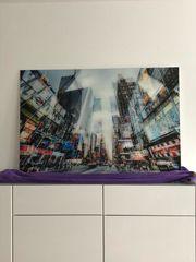 New York Times Square Glasbild